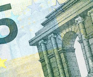 Auschnitt eines 5-Euro-Scheins