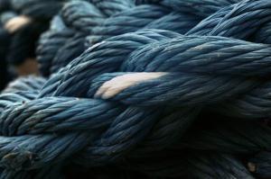 Blaues Tau in Nahaufnahme